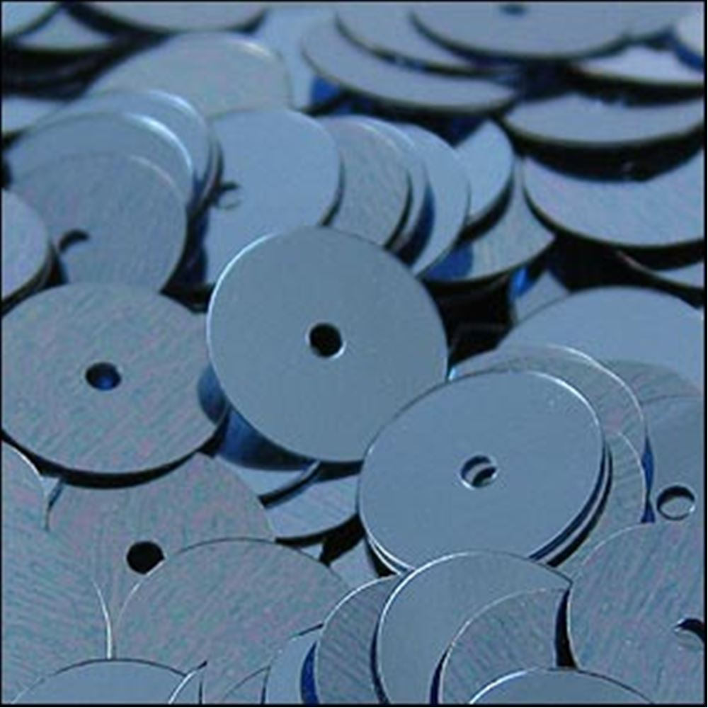 Metallic Slate Blue Flat Sequins. 10mm