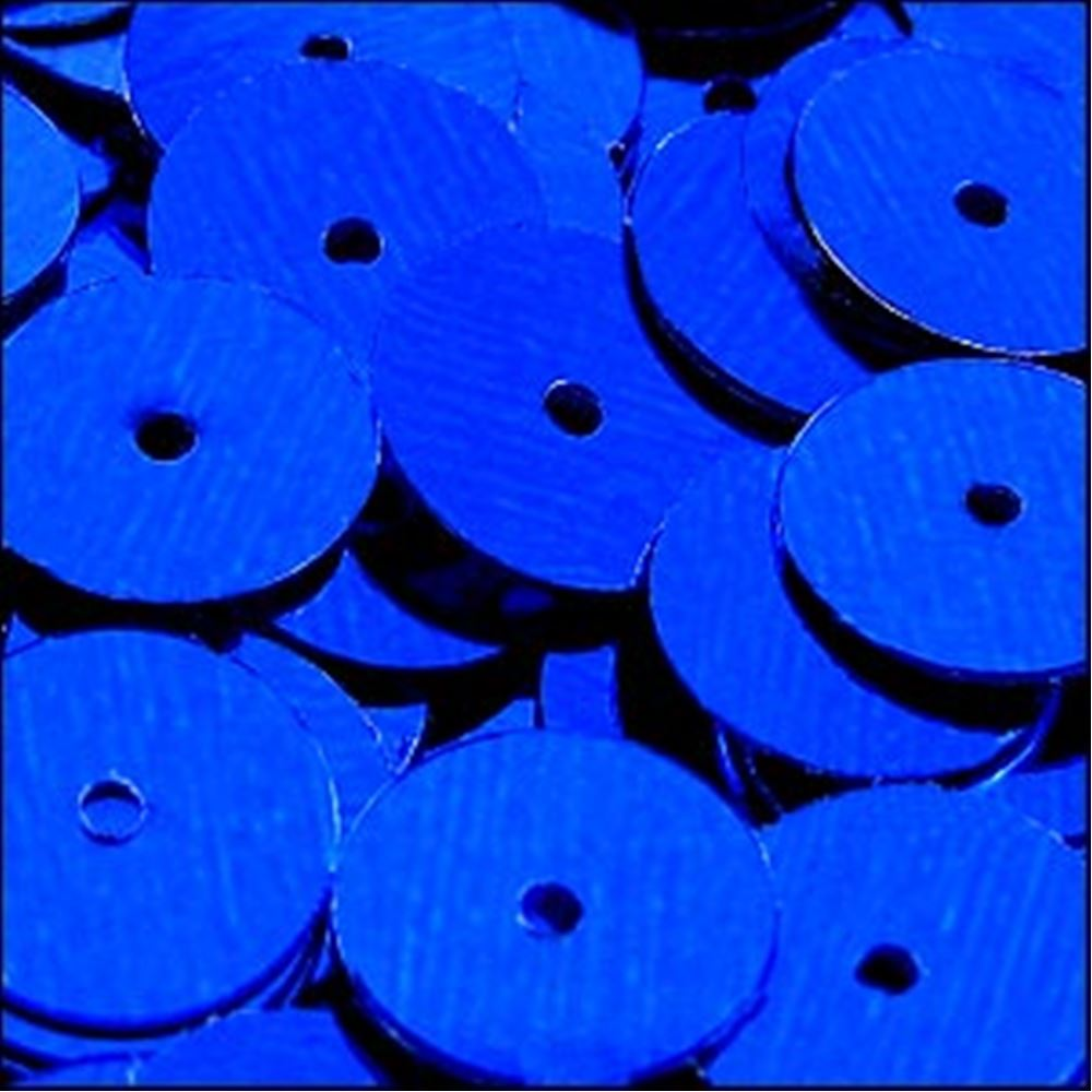 Metallic Royal Blue Flat Sequins. 10mm
