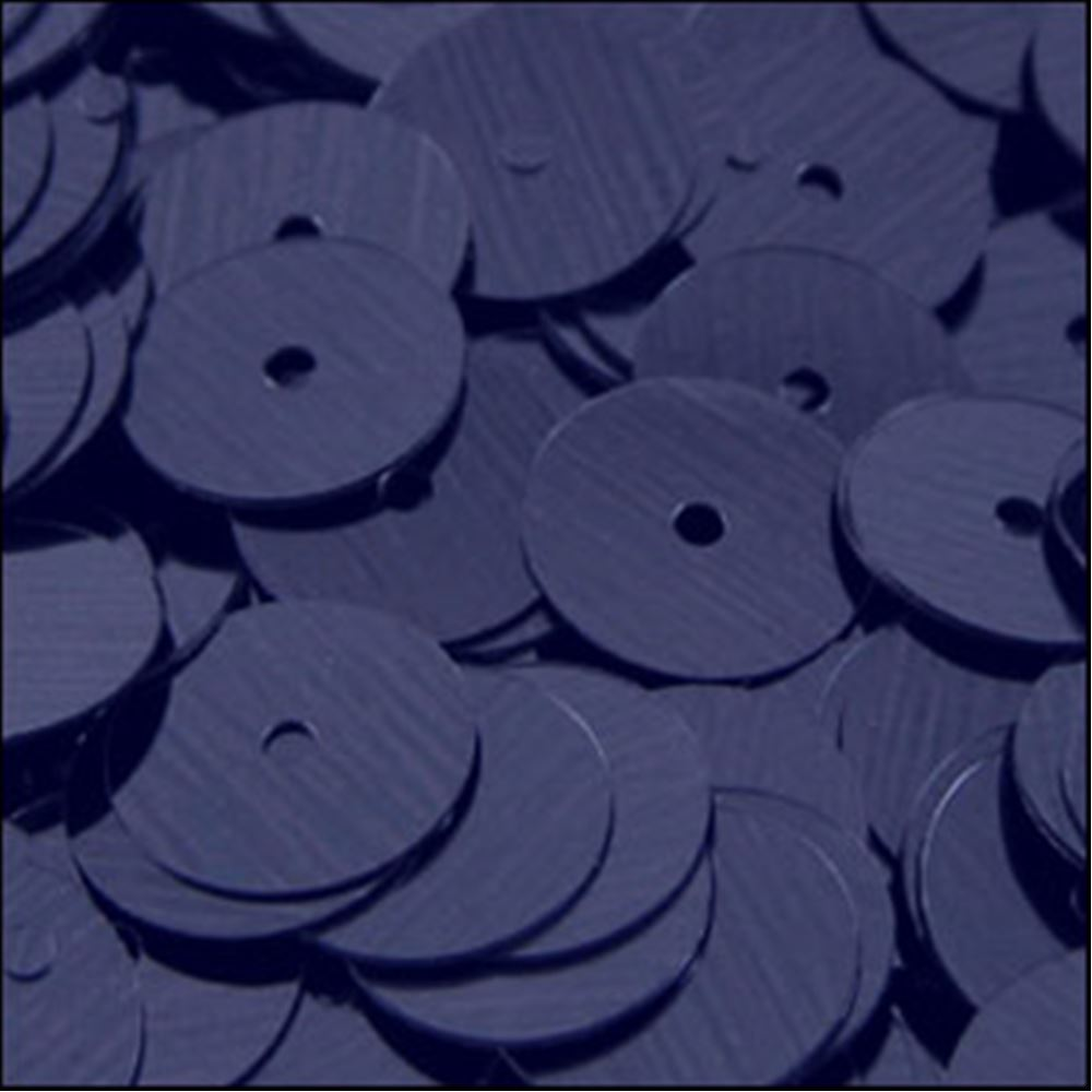 Metallic Navy Blue Flat Sequins. 10mm