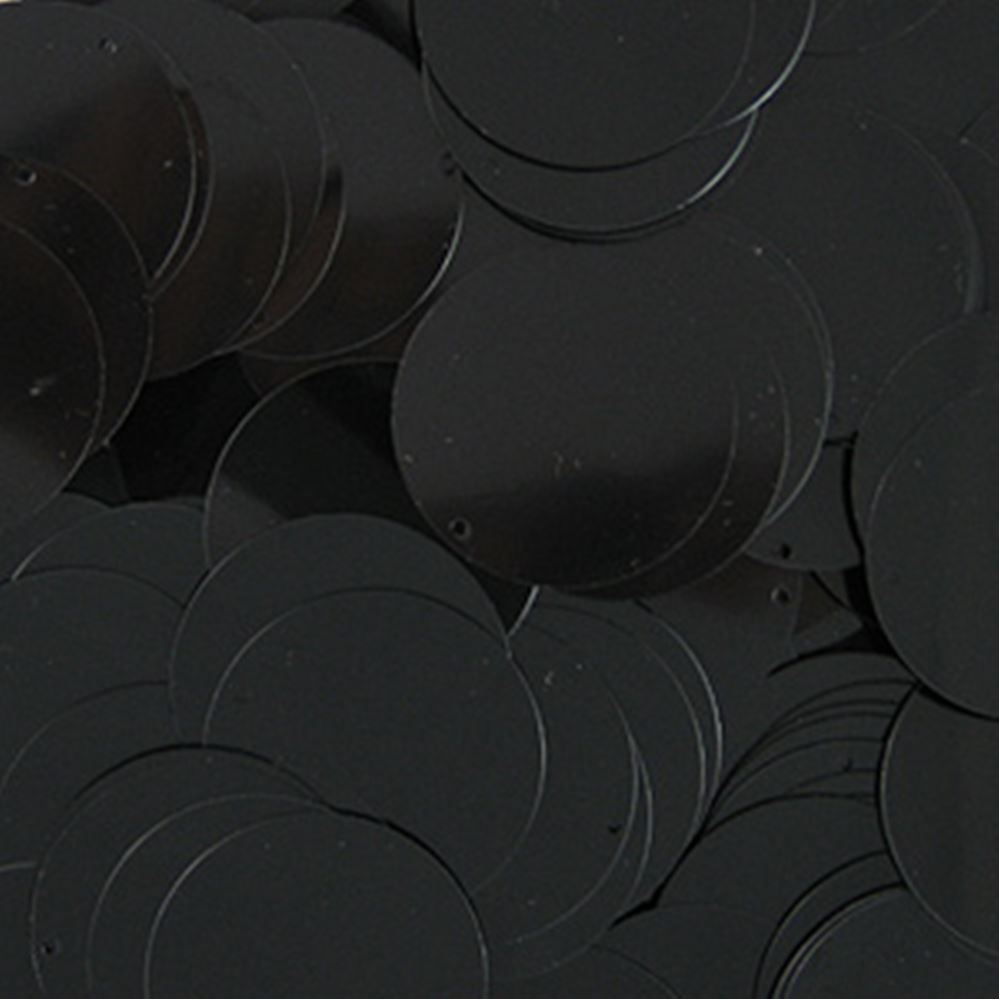 Glossy Black Sequin Disc. 24mm