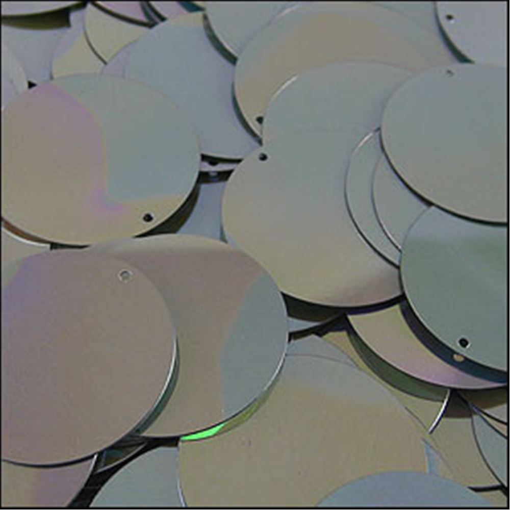 Metallic Antique Silver Disk Sequins. 24mm