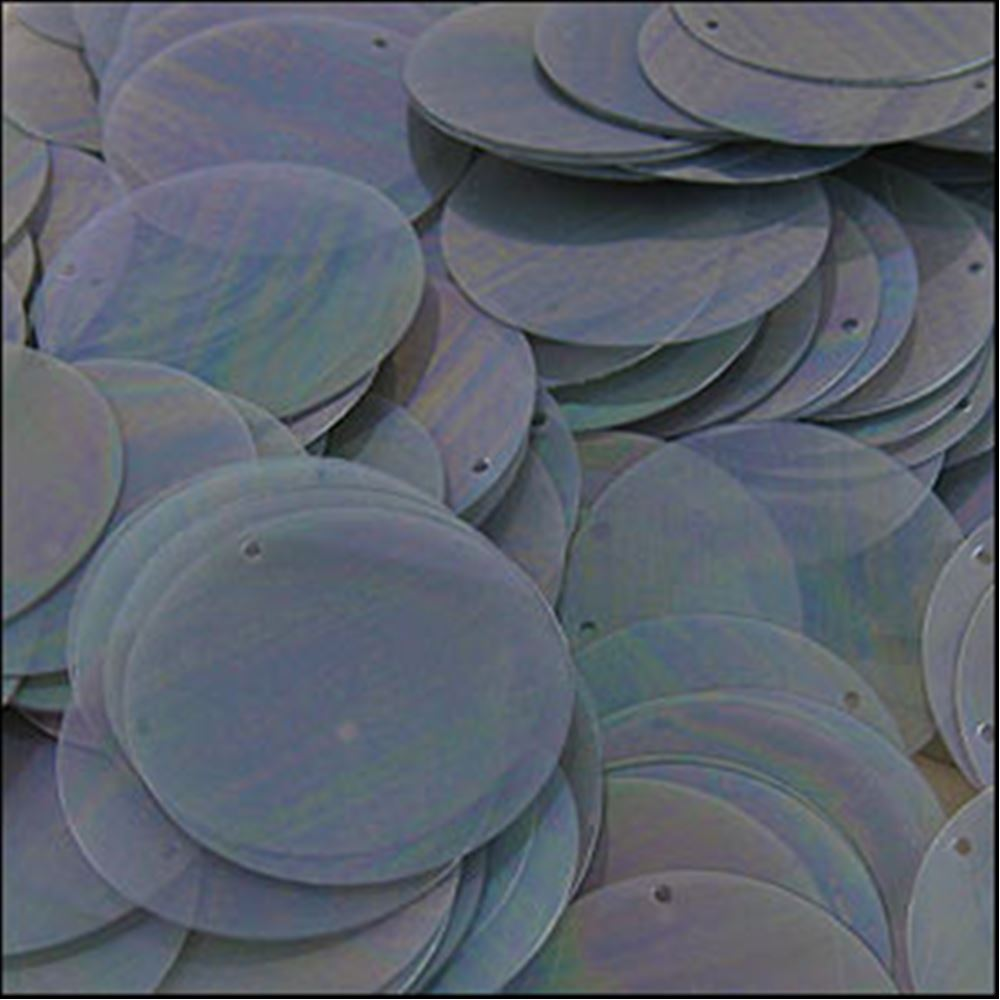 Clear Antique Silver Disk Sequins. 24mm