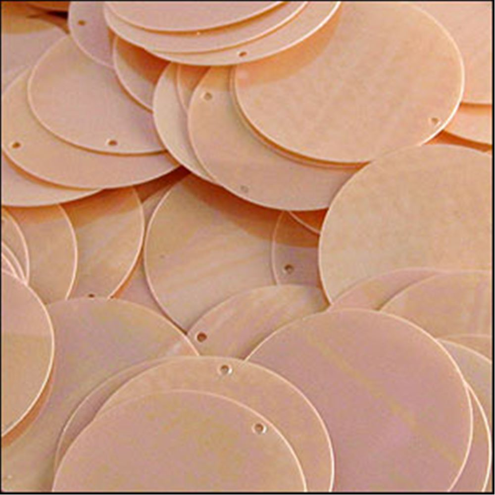 Glossy Peaches & Cream Disk Sequins. 24mm