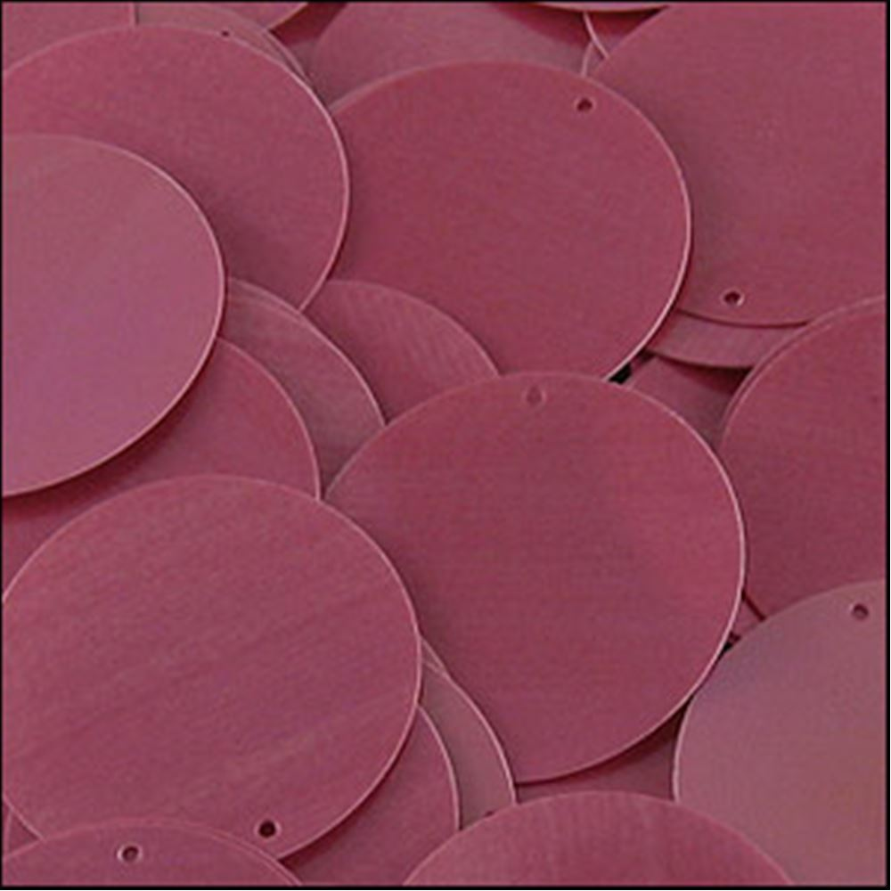 Glossy Bubblegum Pink Disk Sequins. 24mm