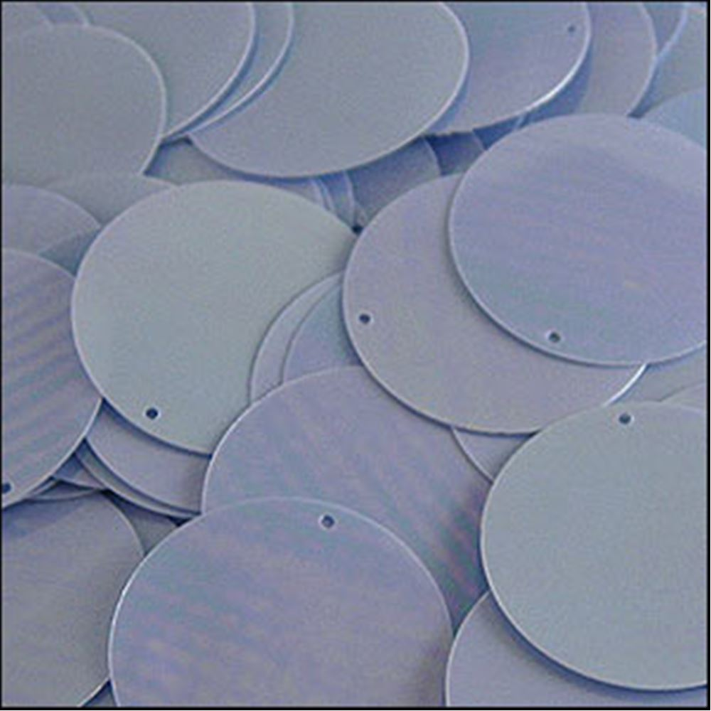 Glossy Sky Blue Disk Sequins. 24mm