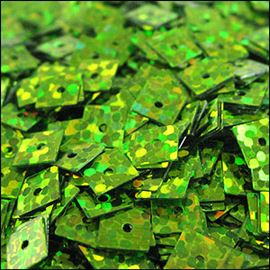 Hologram Lime Green Square Sequins 5mm