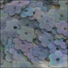 Clear Rainbow Flower Shaped Sequins. 6mm