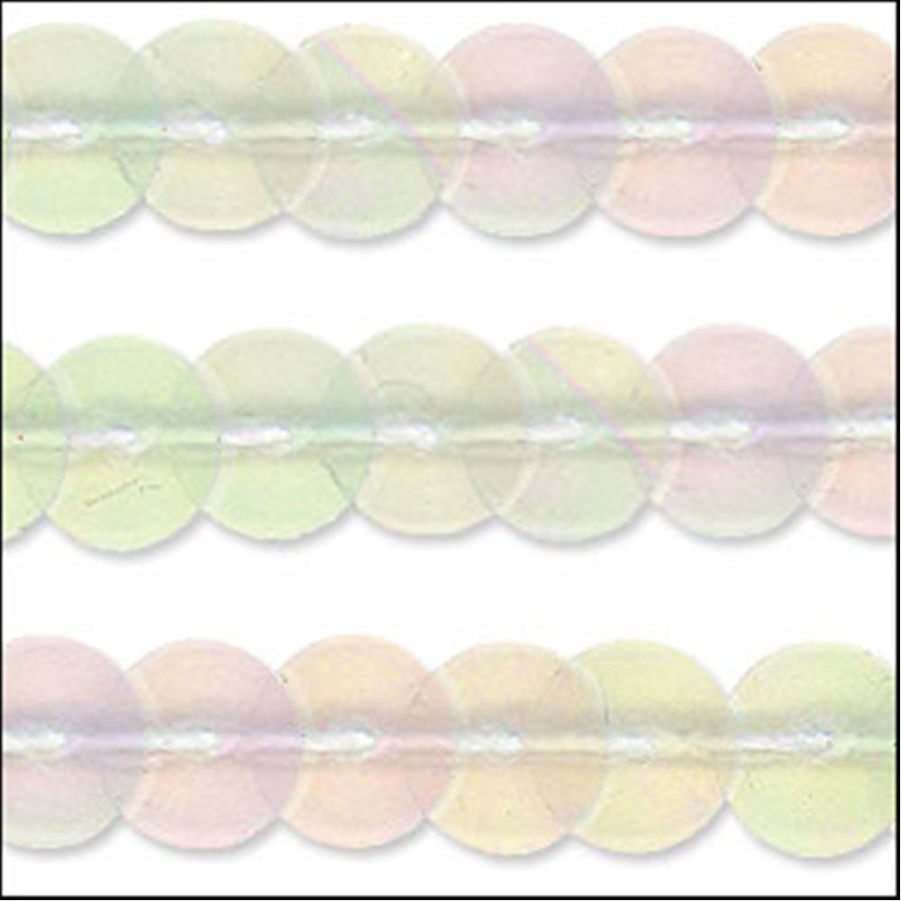 Clear Rainbow Sequin Trim - Rigid. 6mm