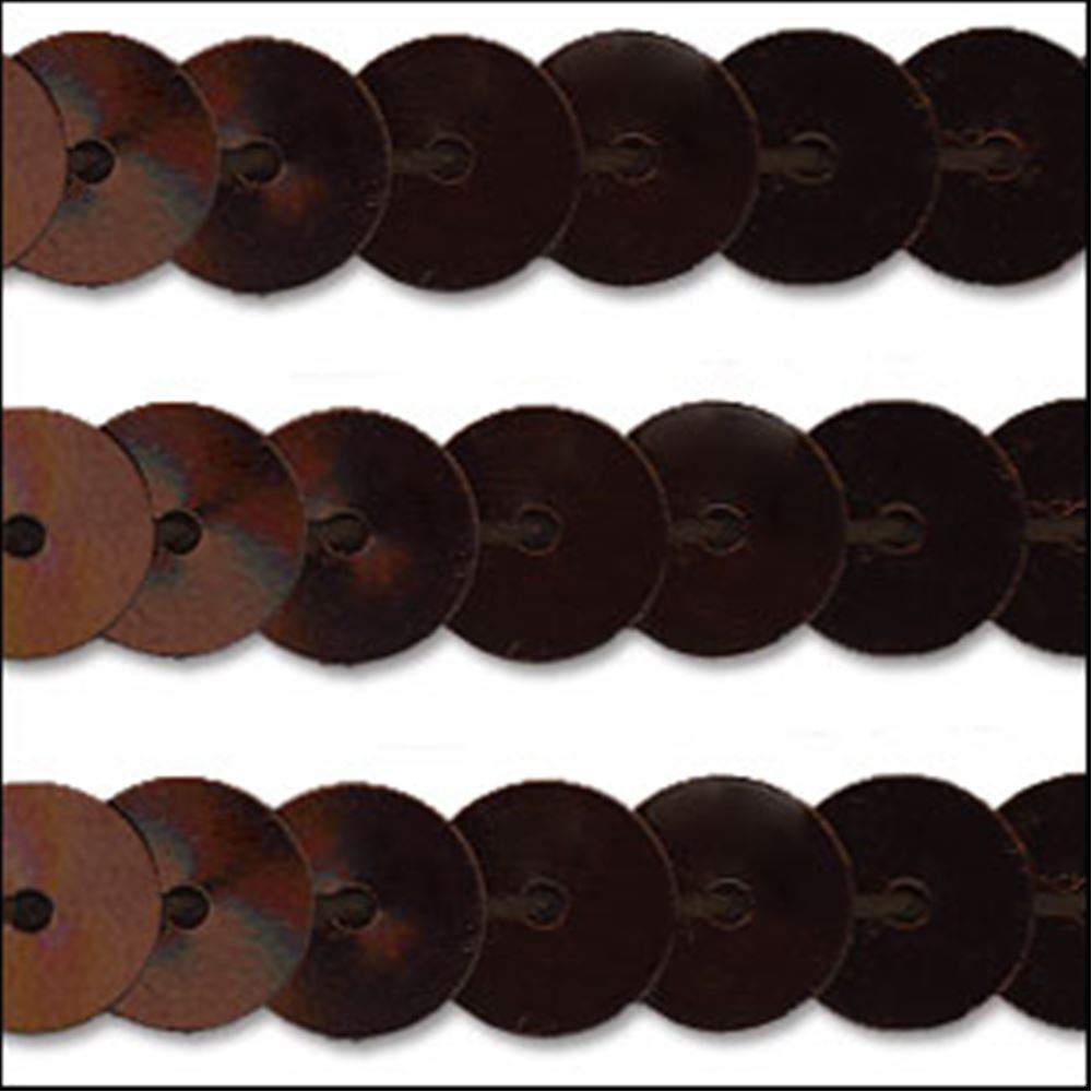 Metallic Chocolate Sequin Trim - Rigid. 6mm