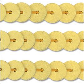 Matte Gold Sequin Trim - Rigid. 6mm