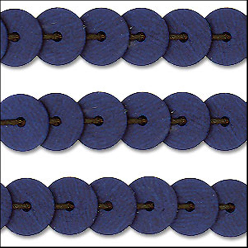 Matte Navy Blue Sequin Trim - Rigid. 6mm