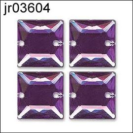 Fuchsia Sew On Acrylic Stone X 6. Square 8mm