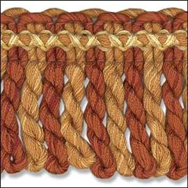 Wheat Mix Twisted Fringe. 60mm