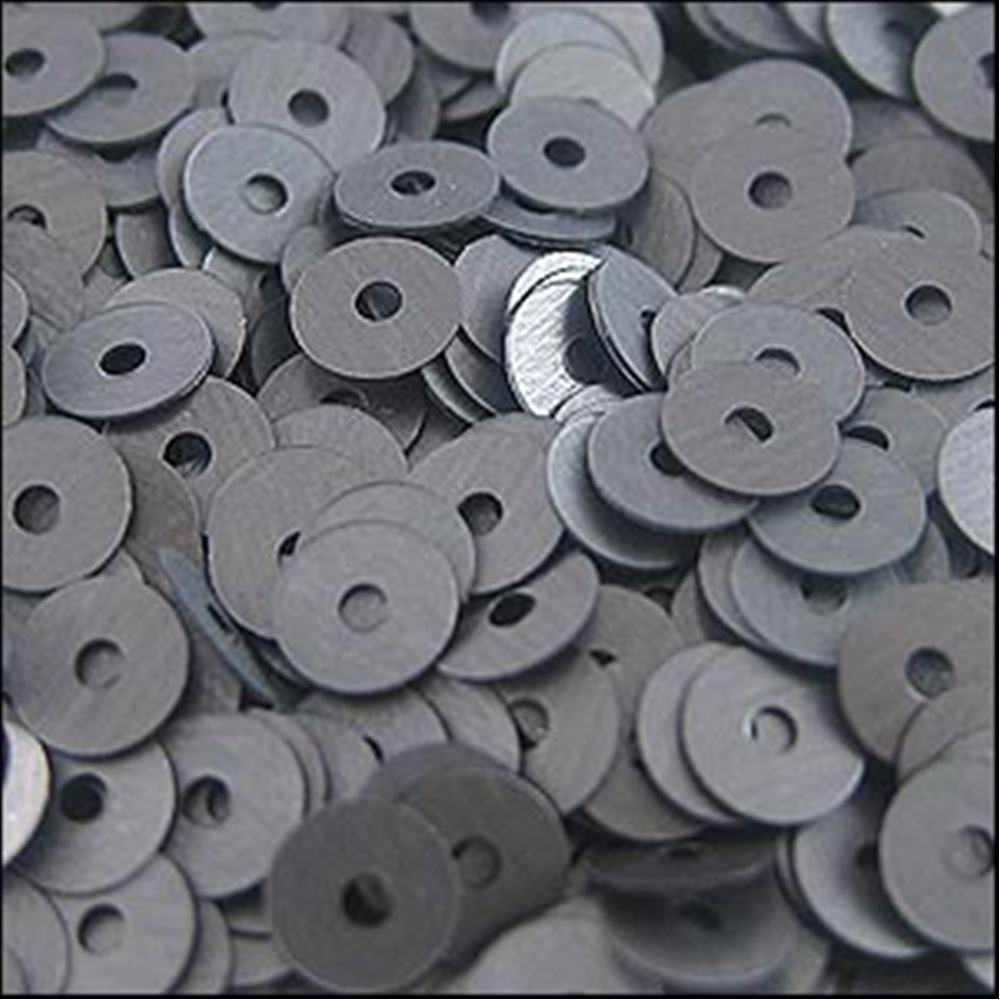 Matt Gunmetal Flat Sequins. 5mm