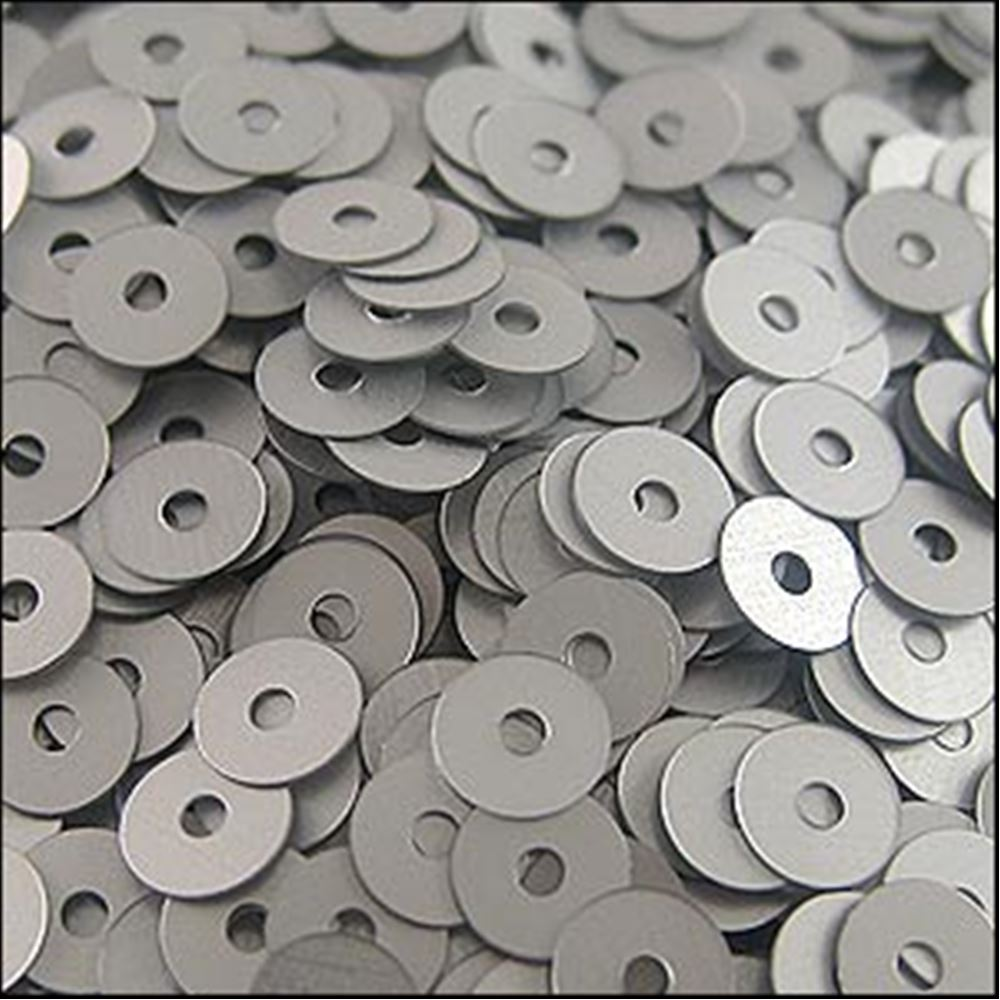 Matt Silver Flat Sequins. 5mm