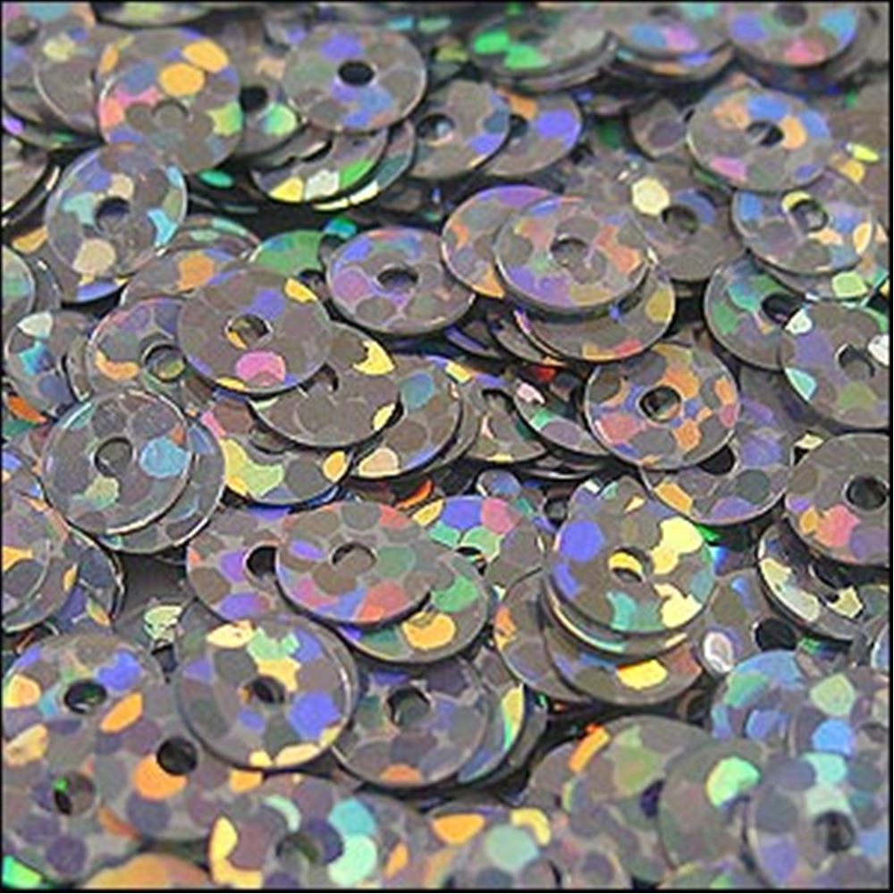 Hologram Silver Flat Sequins. 5mm