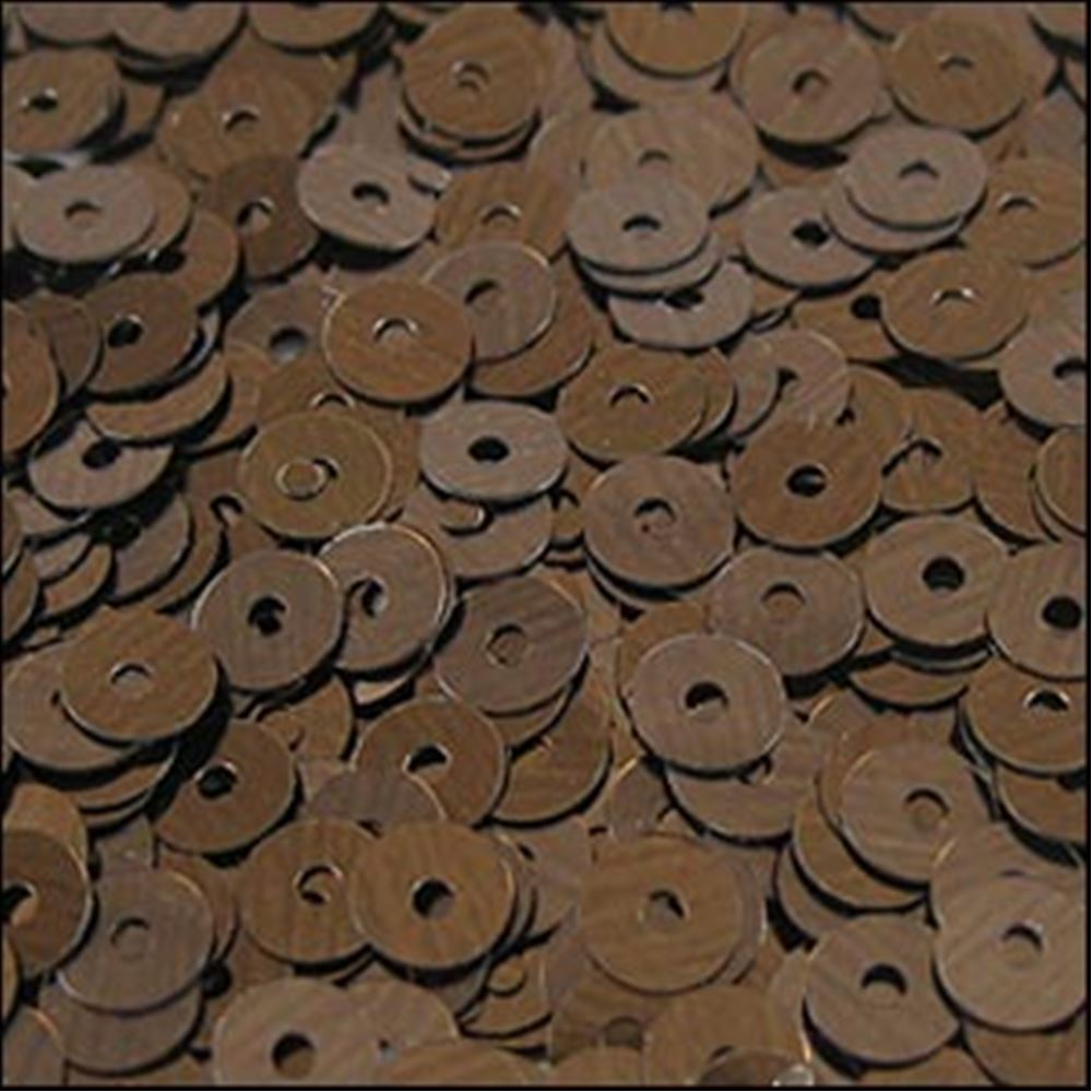 Metallic Chocolate Flat Sequins. 5mm