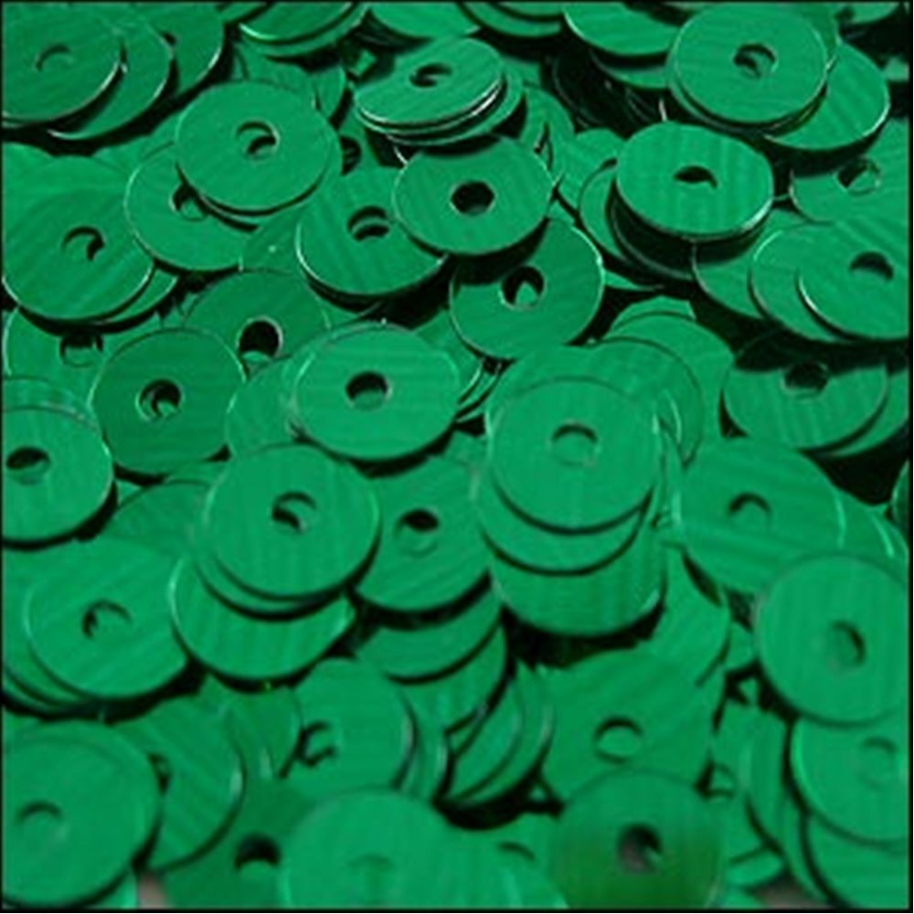 Metallic Emerald Flat Sequins. 5mm