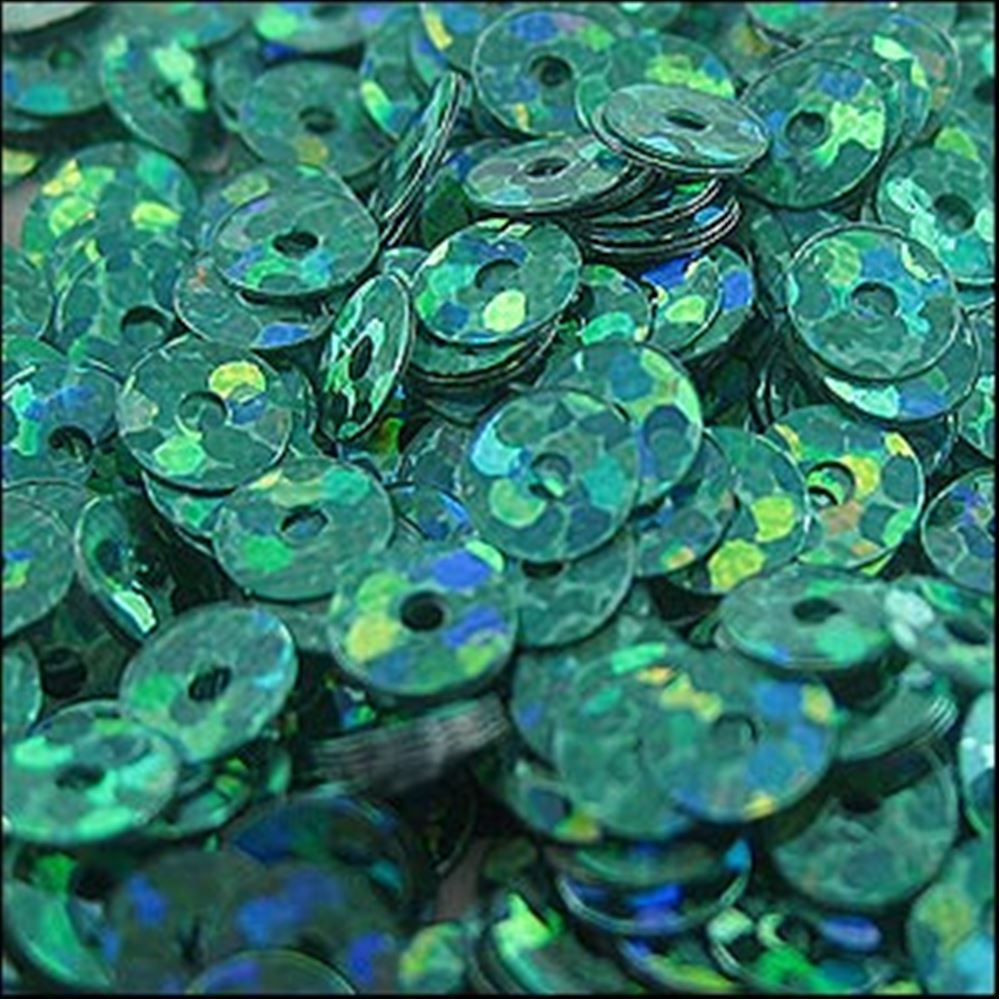 Hologram Amazon Green Flat Sequins. 5mm