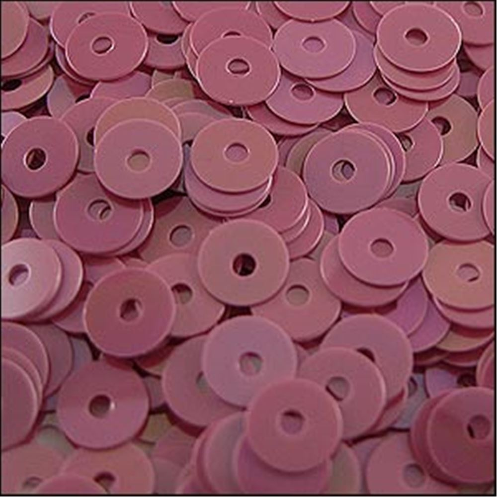 Glossy Bubblegum Pink Flat Sequins. 5mm