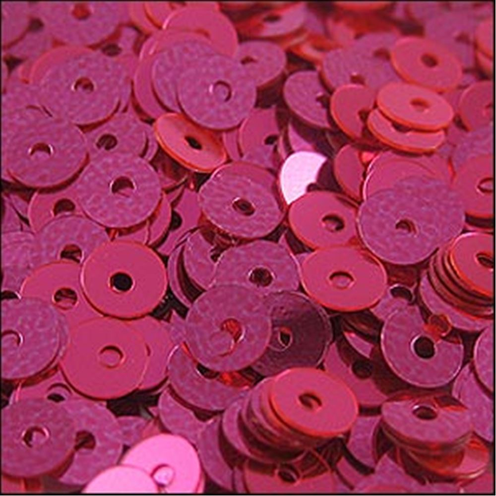 Metallic Shocking Pink Flat Sequins. 5mm