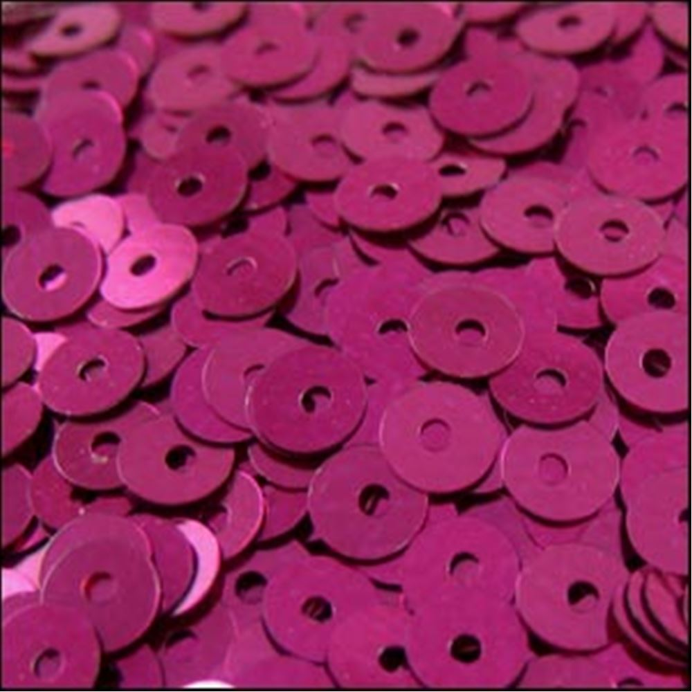 Metallic Fuchsia Flat Sequins. 5mm