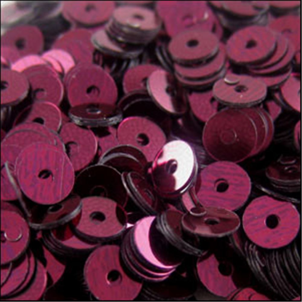 Metallic Wine Flat Sequins. 5mm