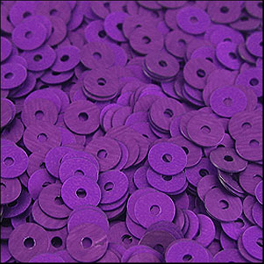 Matte Purple Flat Sequins. 5mm