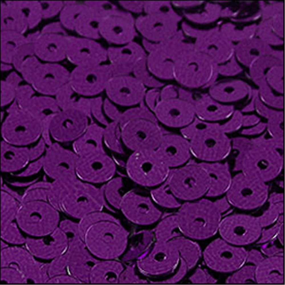 Metallic Royal Purple Flat Sequins. 5mm