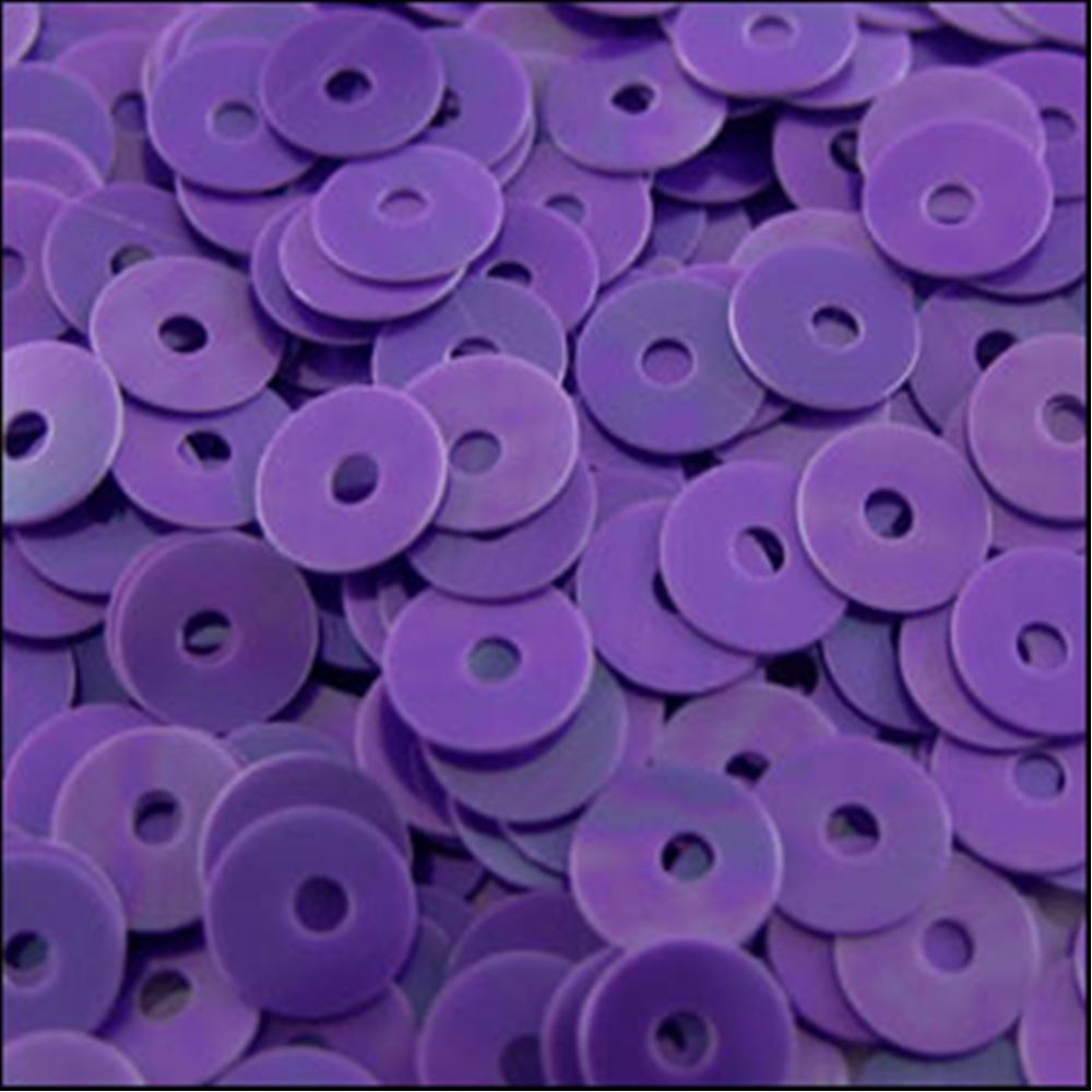 Glossy Amethyst Flat Sequins. 5mm