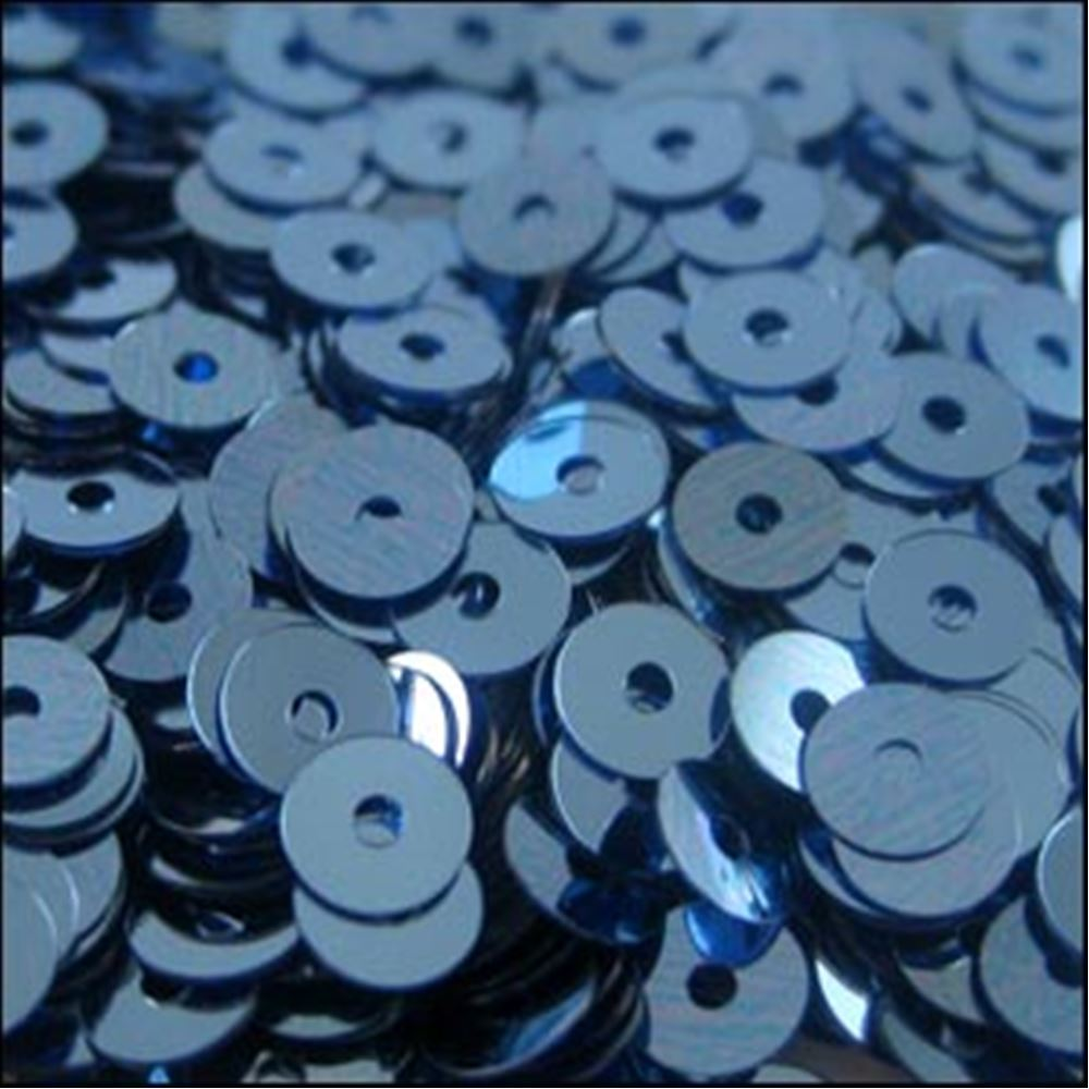Metallic Slate Blue Flat Sequins. 5mm