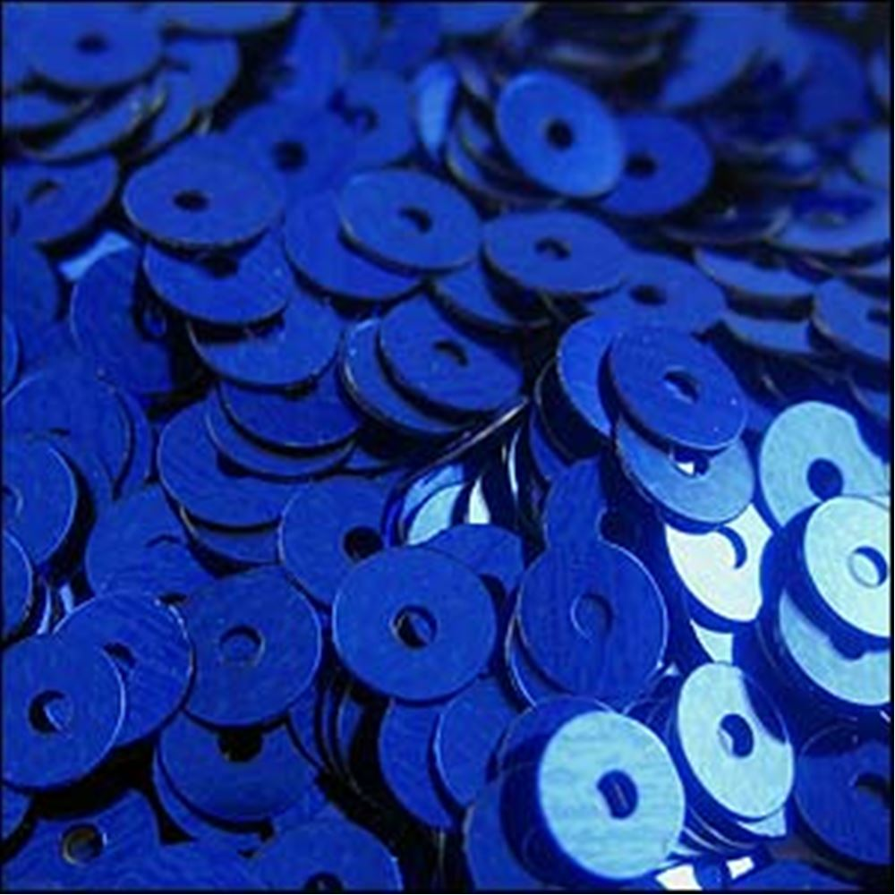 Metallic Royal Blue Flat Sequins. 5mm
