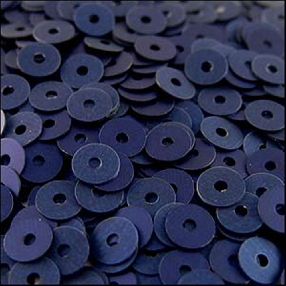 Matte Navy Blue Flat Sequins. 5mm