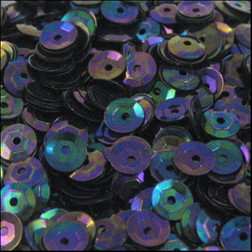 Metallic Petrol Black Cup Sequins. 5mm