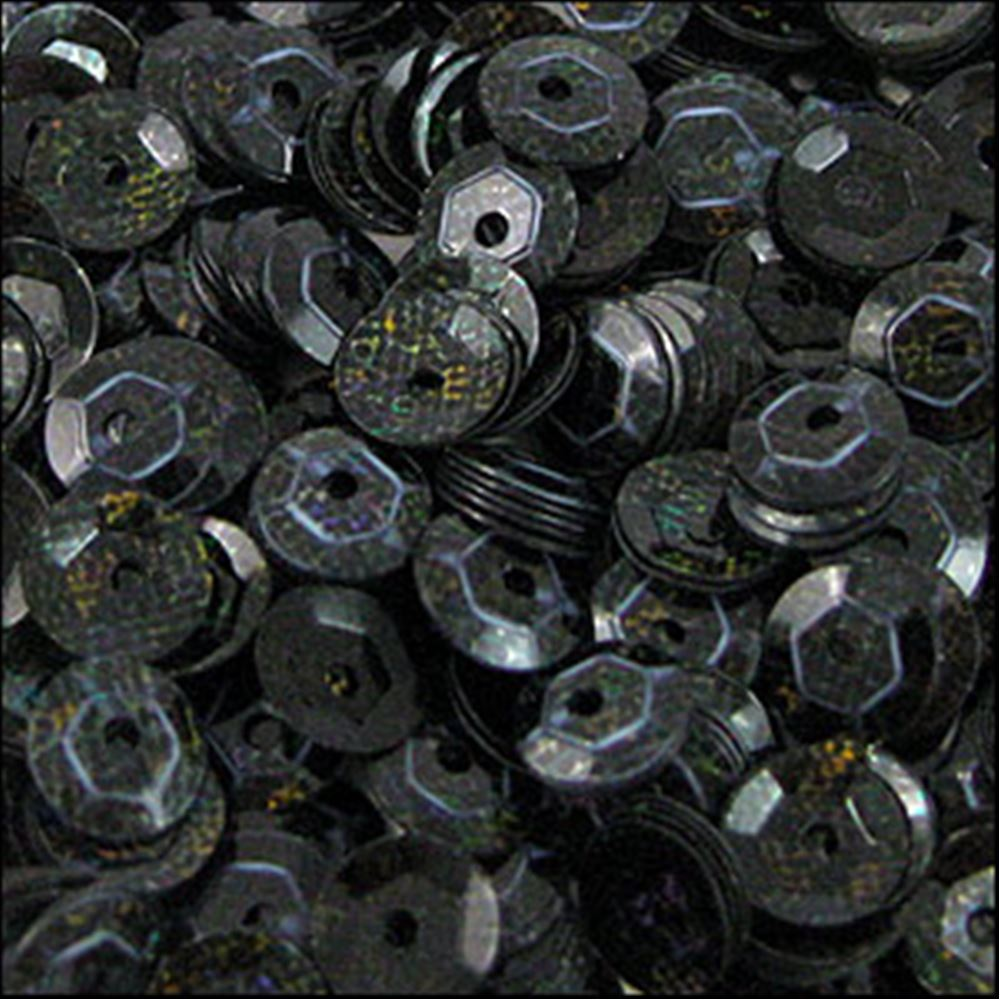 Hologram Black Cup Sequins. 5mm