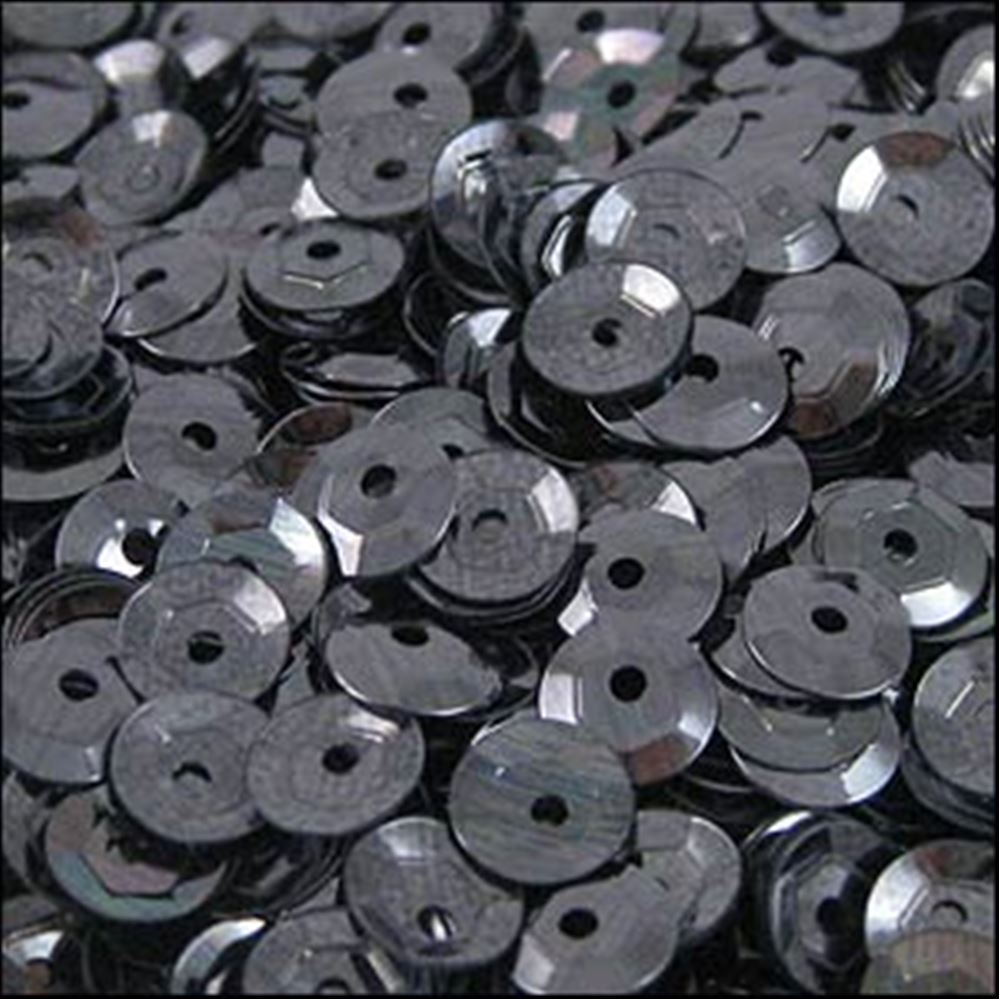 Metallic Gunmetal Cup Sequins. 5mm