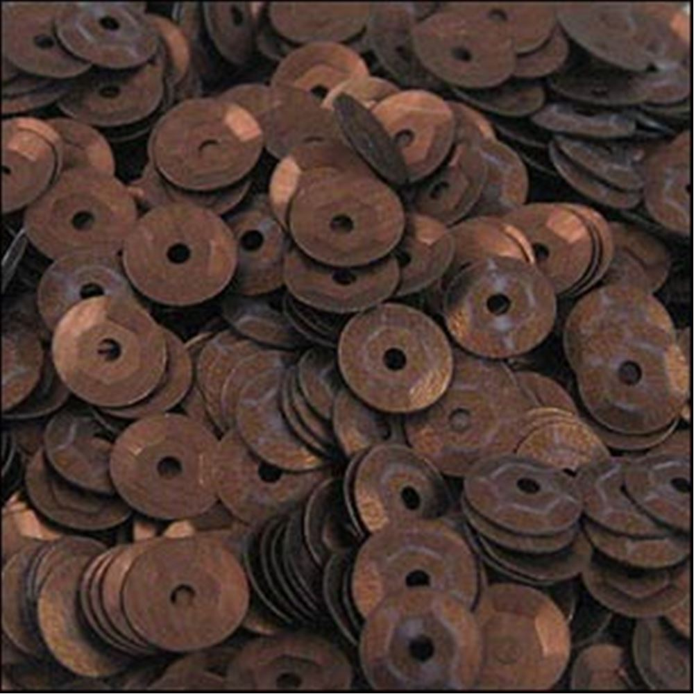 Matt Bronze Cup Sequins. 5mm
