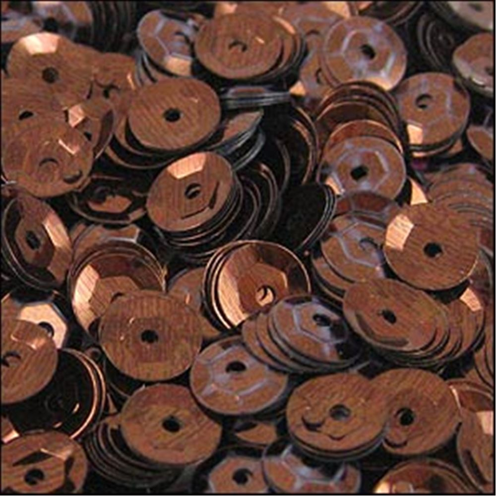 Metallic Bronze Cup Sequins. 5mm