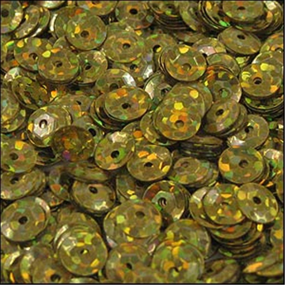 Hologram Gold Cup Sequins. 5mm