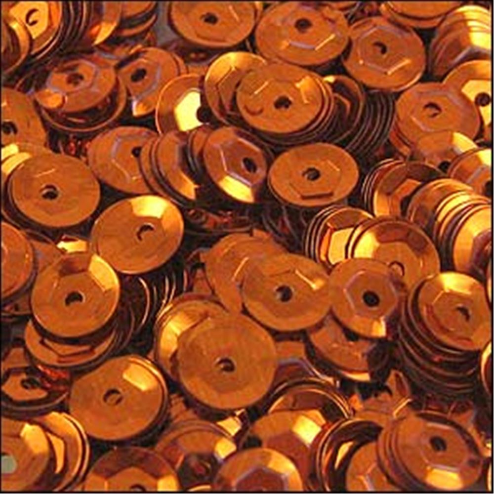 Metallic Orange Cup Sequins. 5mm