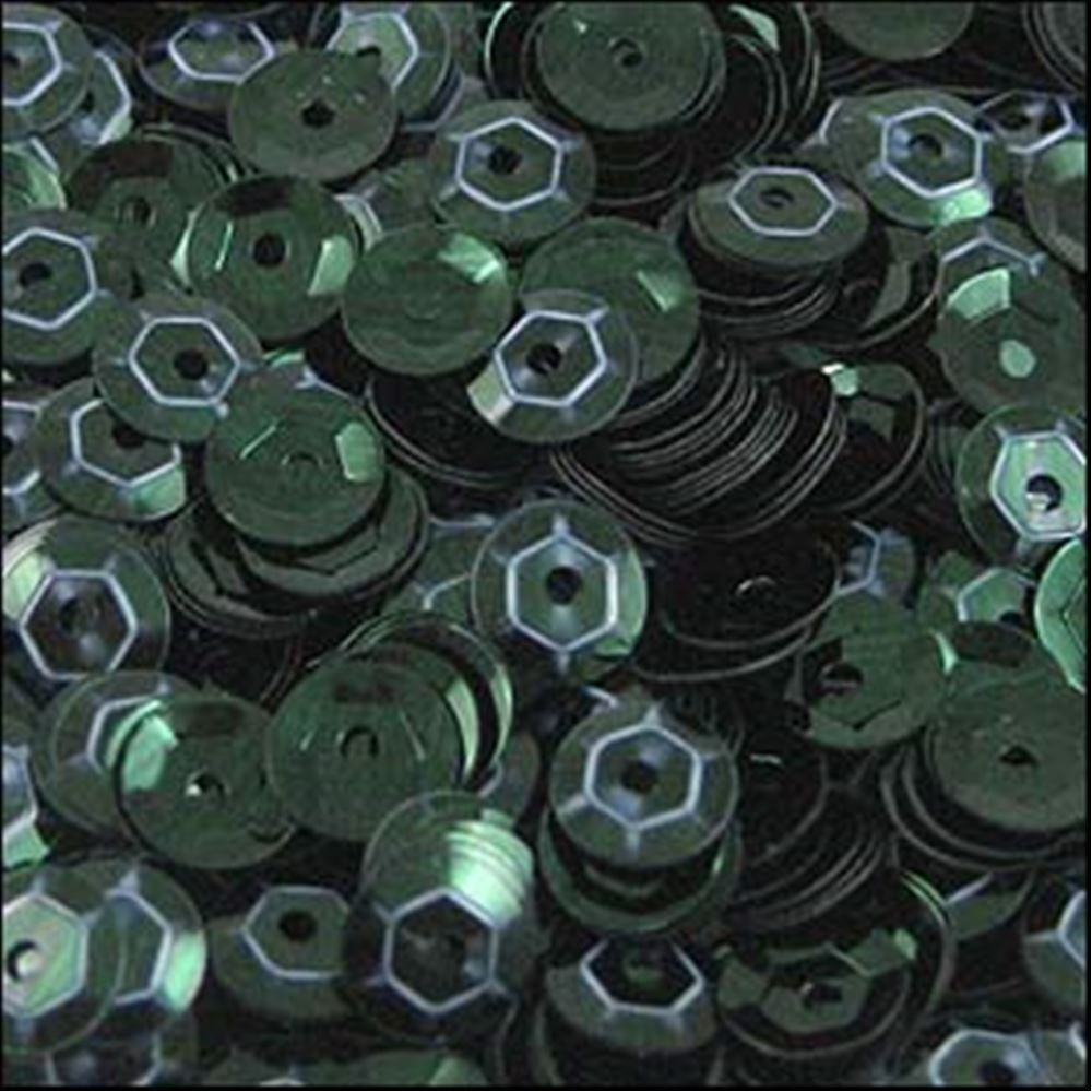 Metallic Forest Green Cup Sequins. 5mm