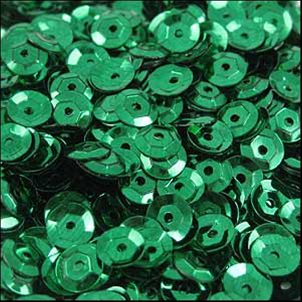 Metallic Emerald Cup Sequins. 5mm