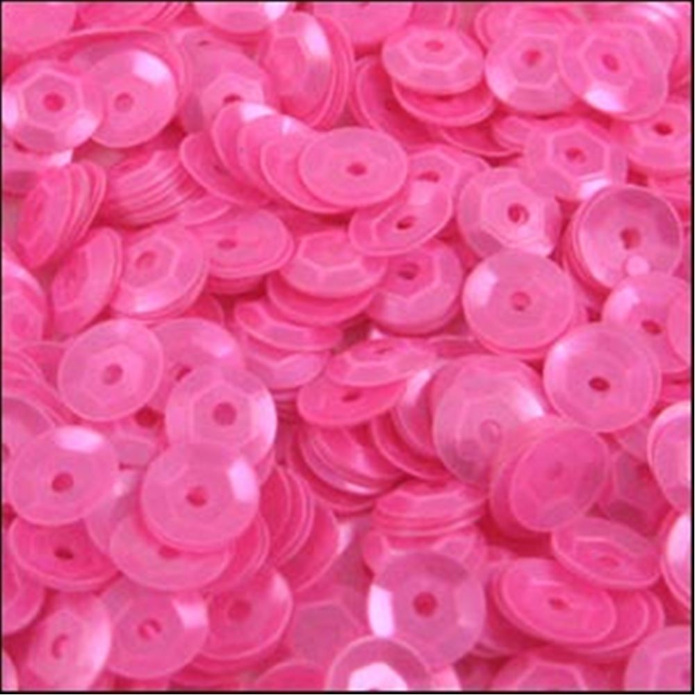 Satin Barbie Pink Cup Sequins. 5mm