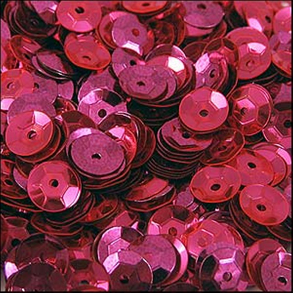 Metallic Shocking Pink Cup Sequins. 5mm