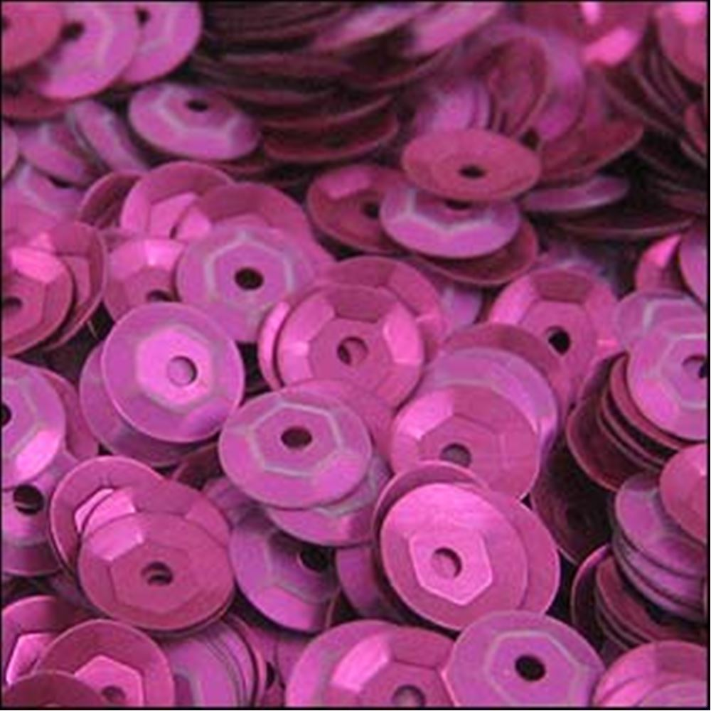 Matte Fuchsia Cup Sequins. 5mm