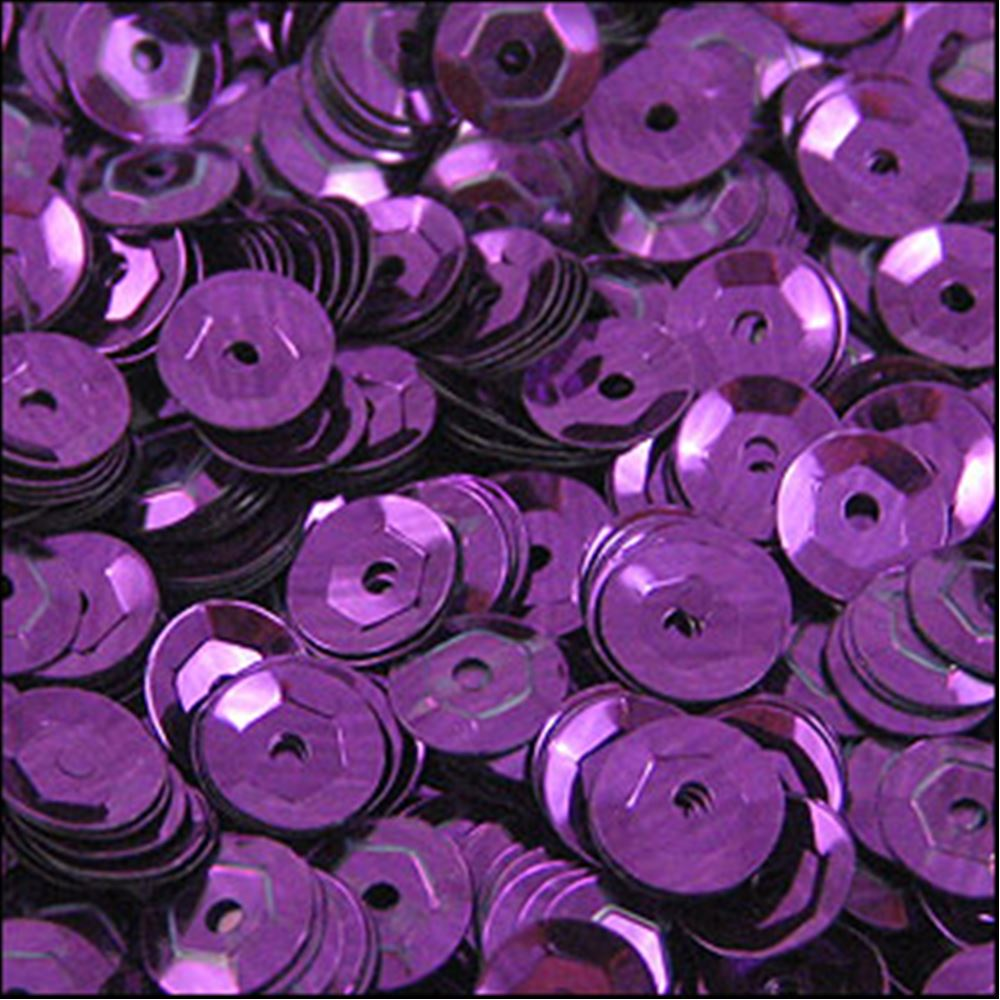 Metallic Aubergine Cup Sequins. 5mm