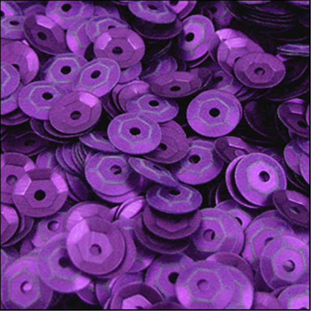 Matte Purple Cup Sequins. 5mm
