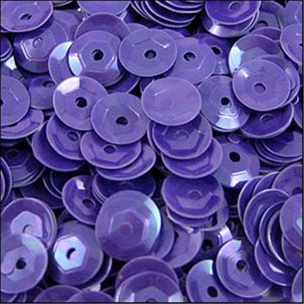 Glossy Amethyst Cup Sequins. 5mm