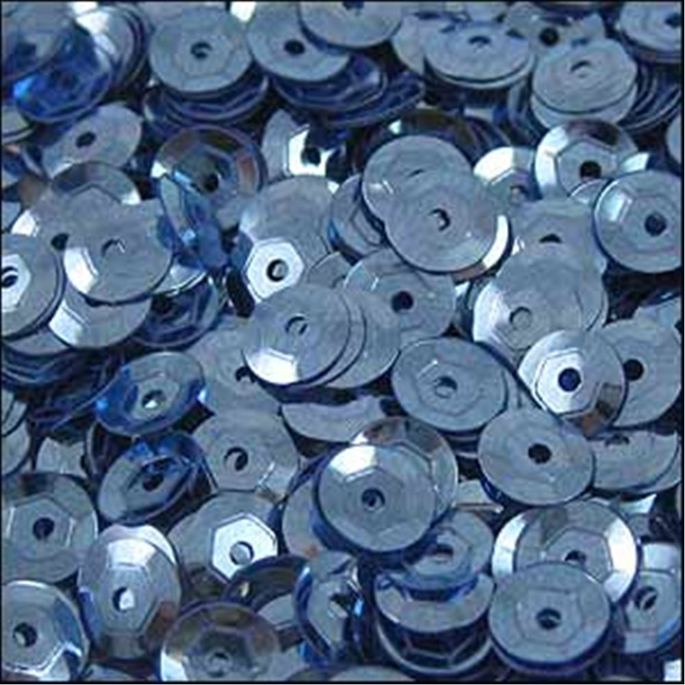 Metallic Slate Blue Cup Sequins. 5mm