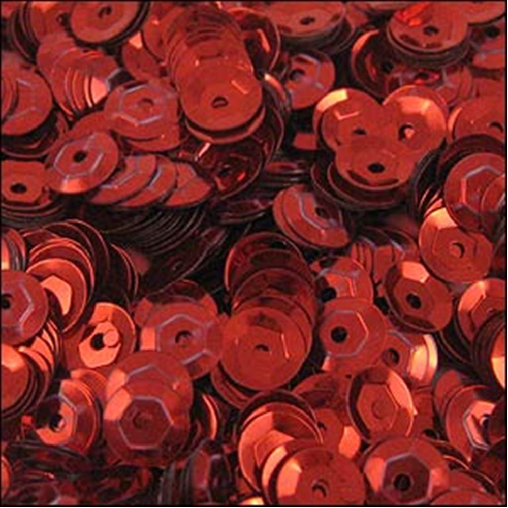 Metallic Red Cup Sequins. 5mm